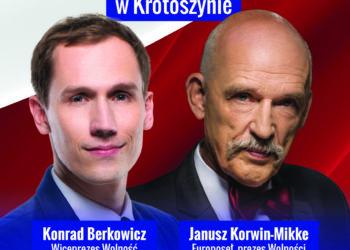 Janusz Korwin-Mikke odwiedzi Krotoszyn