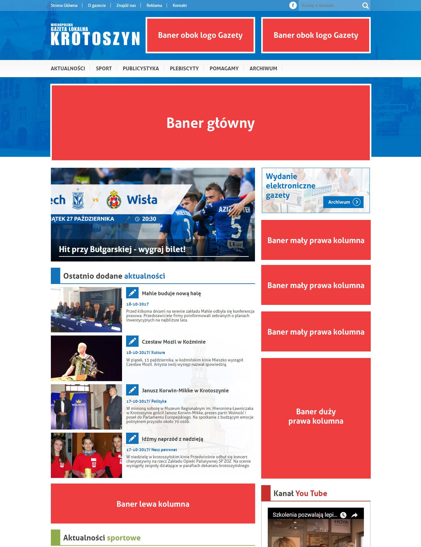Reklamy na portalu glokalna.pl