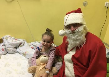 Odwiedzili dzieci w szpitalu