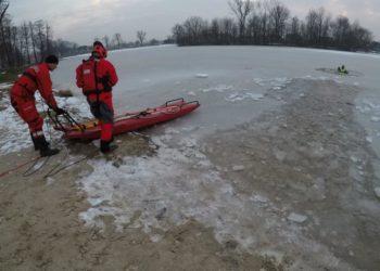 Ćwiczenia z ratownictwa wodno-lodowego