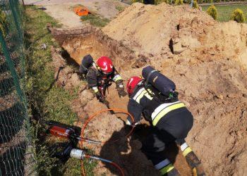 Uszkodzony gazociąg