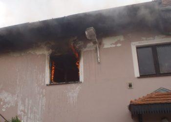 Ogień w stolarni