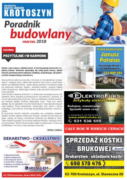 Poradnik budowlany MARZEC 2018