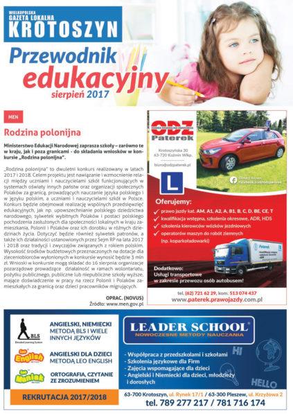 Poradnik edukacyjny SIERPIEŃ 2017