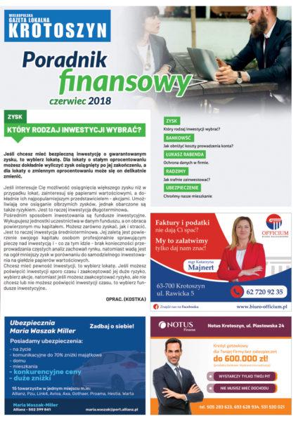Poradnik finansowy CZERWIEC 2018