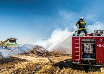 Pożar w trakcie prac polowych