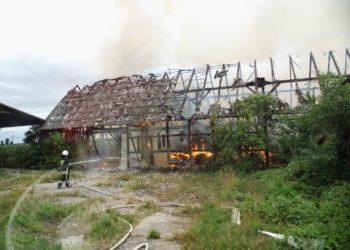 Spłonęła stodoła w Wyrębinie