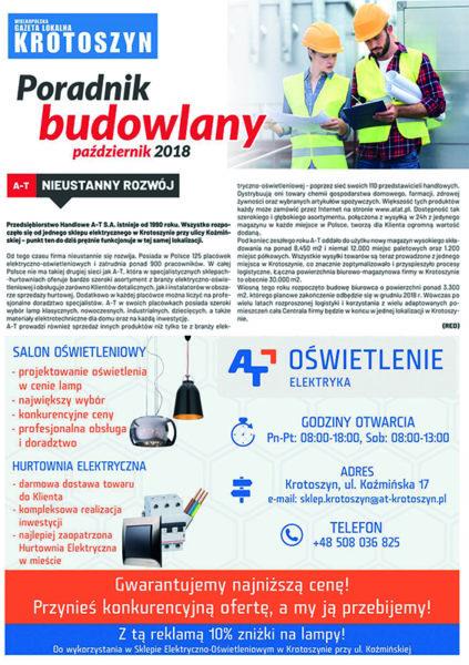 Poradnik budowlany PAŹDZIERNIK 2018