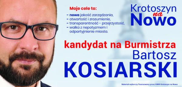 B. Kosiarski – kandydat na burmistrza Krotoszyna