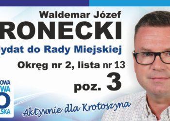 W. Wronecki - kandydat do Rady Miejskiej