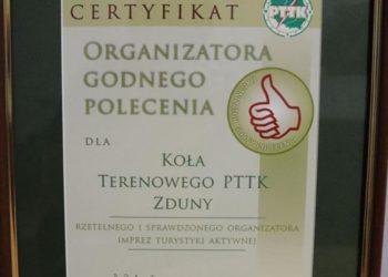 Wyróżnienie dla PTTK Zduny