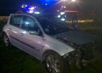 Kierowca wypadł z samochodu