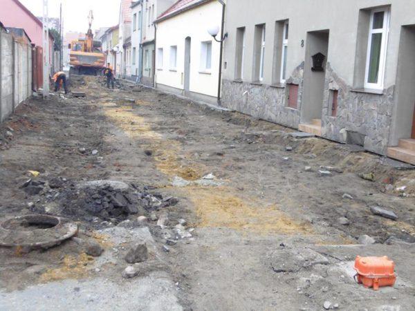 Prace remontowe na ulicy Mickiewicza