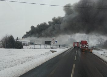 Groźny pożar w Lutogniewie