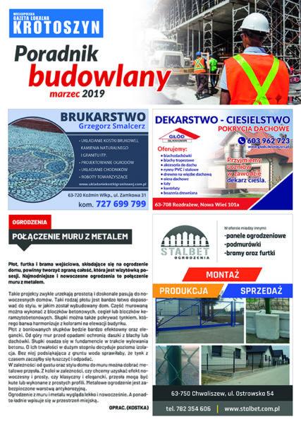 Poradnik budowlany MARZEC 2019