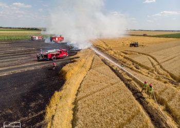 Spłonęły płody rolne