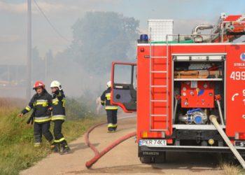 Ogień zagrażał dwóm posesjom