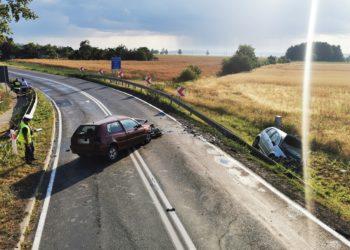 Groźny wypadek na granicy województw