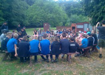 Strażacy na obozie harcerskim