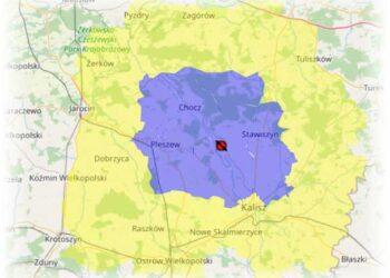 Obszar ochronny w części powiatu