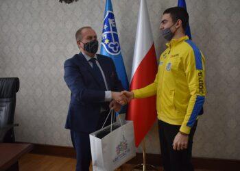 Mistrz Polski z wizytą u burmistrza