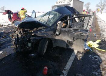 Wypadek z udziałem sześciu pojazdów