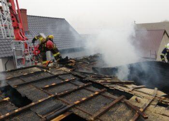 Pożar w zakładzie stolarskim