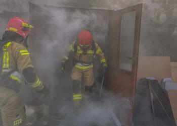 Pożar w kotłowni na terenie zakładu produkcyjnego