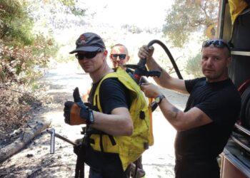 Miliccy strażacy pomagają w Grecji