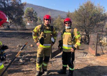 Zmiana strażaków pomagających w Grecji