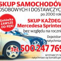 Skup aut osobowe dostawcze po 2000r każdy Sprinter i Kaczka PILNIE!!500247769